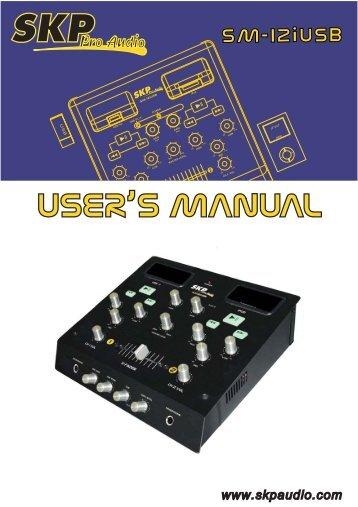 SM-12iUSB Manual Multileng - SKP Pro Audio
