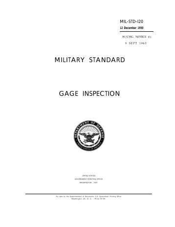 MILITARY STANDARD GAGE INSPECTION