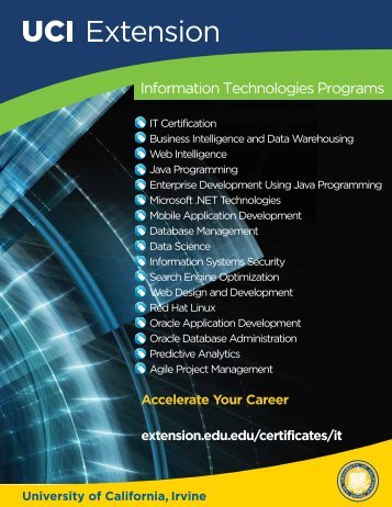 IT Program Brochure - UC Irvine Extension - University of California ...