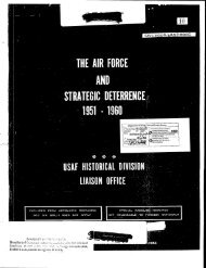 The Air Force and Strategic Deterrence, 1951-1960 - The George ...