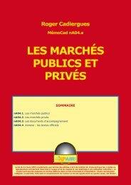 LES MARCHÉS PUBLICS ET PRIVÉS