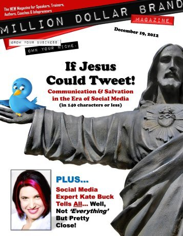 Million Dollar Brand Magazine December 19 2012