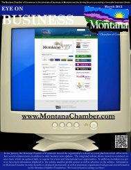 March 2102 EYE on Business - Montana Chamber of Commerce