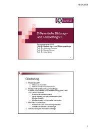 Differentielle Bildungs- und Lernsettings 2