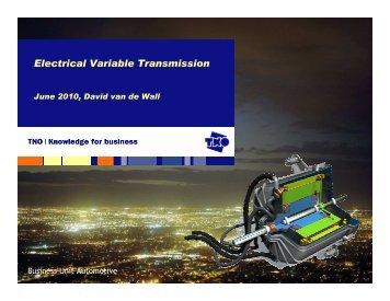 20100623 Schiphol Presentatie EVT v2