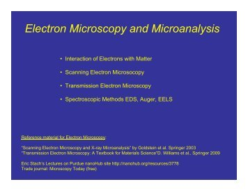 Electron Microscopy and Microanalysis