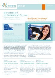 MercedesCard: Leistungsstarker Service - Almeda