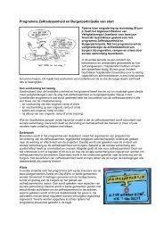 Programma Zelfredzaamheid - Veiligheidsregio IJsselland