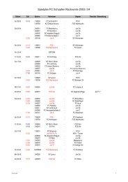 Spielplan FC Schüpfen Rückrunde 2003 / 04