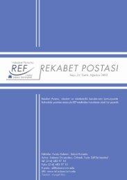 Rekabet Postası No.22 - REF - Sabancı Üniversitesi