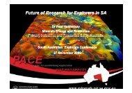 Future directions in geoscience for explorers - Saexplorers.com.au
