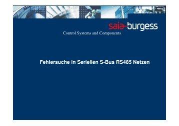 Fehlersuche in Seriellen S-Bus RS485 Netzen