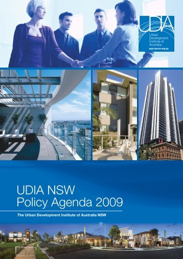UDIA NSW Policy Agenda 2009.indd