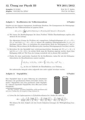 Blatt 12 - TU Dortmund