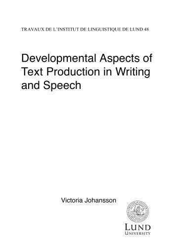 Writing to speech