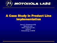 A Case Study in Product Line Implementation - USC Center for ...