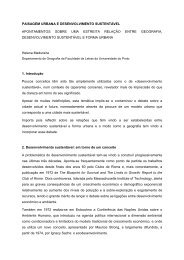 paisagem urbana e desenvolvimento sustentável - Associação ...