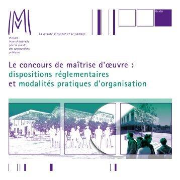 Le concours de maîtrise d'œuvre : dispositions ... - CNRS