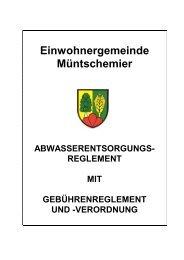 reglement - Gemeinde Müntschemier
