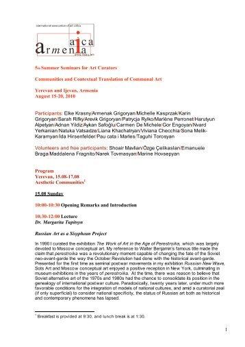 Full program - AICA international