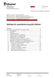 Riktlinjer för systembeskrivning EDI-tillstånd - Tullverket