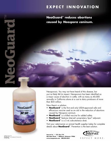 Neoguard™ Technical Information Sheet - Merck Animal Health