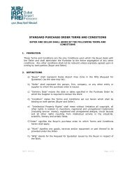 STANDARD PURCHASE ORDER TERMS AND CONDITIONS