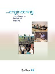 The engineering of vocational and technical training - Inforoute FPT
