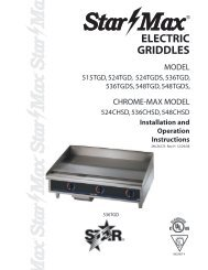 Electric Griddles - The WEBstaurant Store