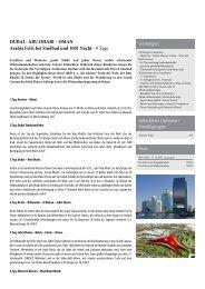 DUBAI - ABU DHABI – OMAN Arabia Felix bei Sindbad und ...