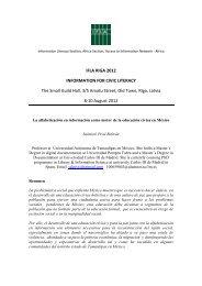 IFLA RIGA 2012 INFORMATION FOR CIVIC LITERACY ... - Academia