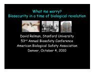 What me worry? Biosecurity in a time of biological revolution