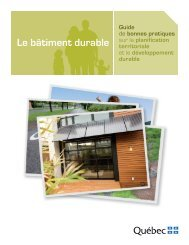 Le bâtiment durable - Affaires municipales, régions et occupation du ...