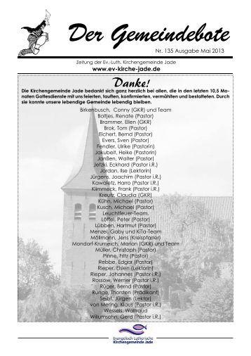 Gemeindebote Nr. 135 vom Mai 2013 - Evangelisch-lutherische ...