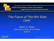 """The Future of Thin-film Solar Cells"" - TV Worldwide"