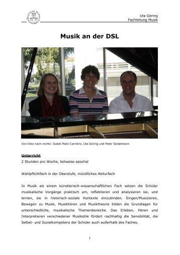 Musik an der DSL - Deutsche Schule Lissabon