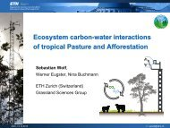 Ecosystem carbon-water interactions of tropical Pasture and ...
