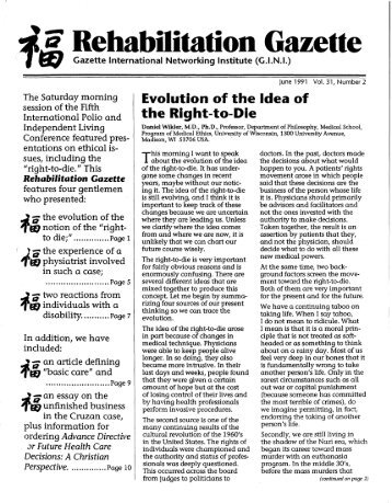 rehabilitation gazette polio place rehabilitation gazette vol 31 no 2 polio place