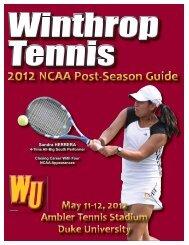 2012 NCAA Women's Tennis Media Guide.indd - Winthrop Eagles