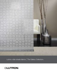 Lutron roller shade Fabrics The Gallery Collection - Hill Residential ...