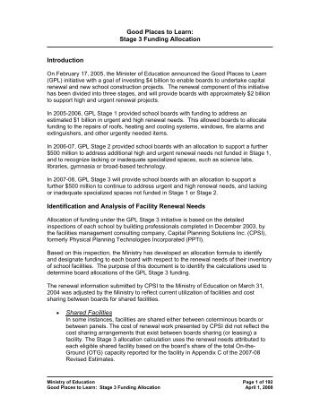 Stage 3 Funding Allocation - Financial Analysis and Accountability ...