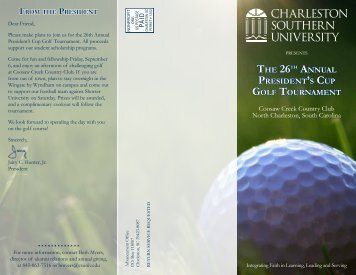 the 26th annual president's cup golf tournament - Charleston ...