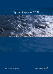 Výroční zpráva 2008 - Grundfos