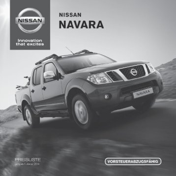 PREISLISTE - Nissan
