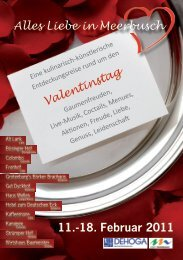 11.-18. Februar 2011 Alles Liebe in Meerbusch - Stadt Meerbusch