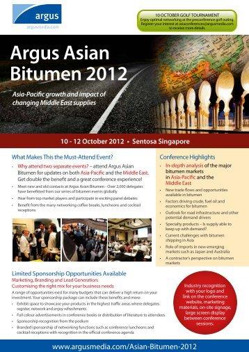 Argus Asian Bitumen 2012