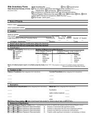 Site Inventory Form - State Historical Society of Iowa