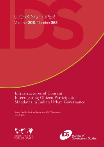 Infrastructures of consent - Governance in India