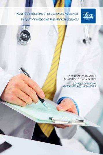 faculté de médecine et des sciences médicales faculty of medecine ...