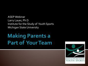 View the Power Point presentation (PDF) - American Sport ...